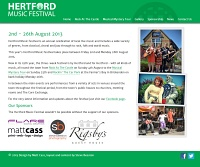 Picture of Hertford Music Festival's website