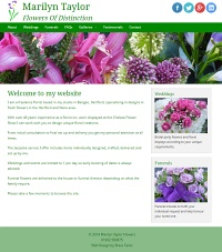 Picture of Marilyn Taylor Flowers website