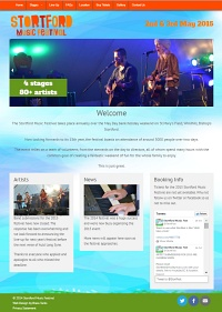 Picture of Stortford Music Festival website